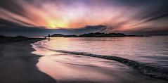 5V6A0017_red4v2 (Eivind Nielsen) Tags: åkrasand karmøy sunset water sea ocean beach sand reflection sky wave jogger landscape solnedgang