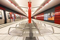 Hamburg (michael_hamburg69) Tags: hamburg germany deutschland ubahn u1 station haltestelle underground wartenau rot red tube hvv photowalkwithkatrin