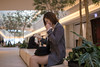 Young businesswoman reading good news on digital tablet (Apricot Cafe) Tags: img82499 adultsonly asia asianandindianethnicities fashionable japan japaneseethnicity positiveemotion smartcasual tamronsp35mmf18divcusdmodelf012 tokyojapan bench buildingexterior business businesscasual businesswoman candid city citylife colorimage confidence day digitaltablet fistpump hat indoors lifestyles oneperson oneyoungwomanonly onlyjapanese people photography reading shorthair sideview sitting success surprised threequarterlength toothysmile win women youngadult