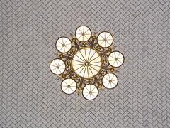... (Ashley Watts) Tags: new york nyc usa us light ceiling building symmetry pattern gold chandelier travel omd em5 olympus 25mm zuiko screensaver background adventure architecture design skylight geometric window