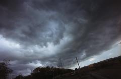 (xbacksteinx) Tags: canonftbql analog vintage slr fd17mmf4 17mm expired kodakgold200 c41 film germany spring thunderstorm clouds incoming darkness grain grainy mood moody
