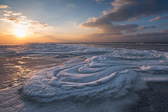 Natural Fantasy (Dani℮l) Tags: schiermonnikoog waddeneiland friesland ijs ice nature winter sky lucht sunset nederland landschap netherlands groningen noordzee strand beach north sea sun natuur shape curve art sand zand