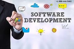 Custom Software  Development Agency (erikarangel013) Tags: computer vector businessman men cycle coding illustration computerprogrammer sitting drawingactivity computergraphic backgrounds agility newlife order business technology people blackboard internet computersoftware laptop coder