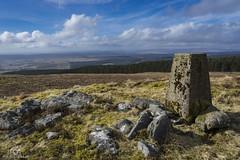 Long Crag Trig Pillar.. (CamraMan.) Tags: long crag trigpoint view landscape bewcastlefells bewcastle cumbria outandabout fells northernfells uk ©davidliddle ©camraman sky clouds