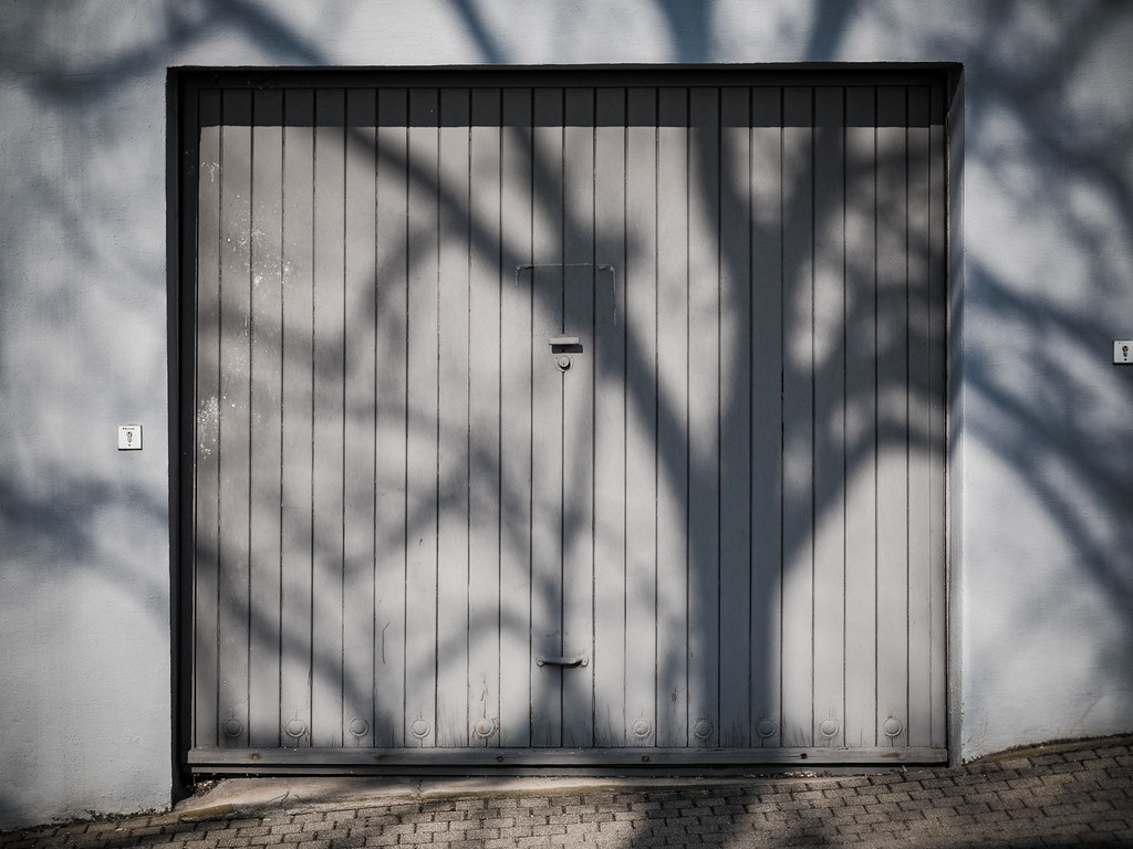 Tree On Garage Door (schauplatz) Tags: Baum Deutschland Fotowalk Garage  Garagentor Mutdws Mut201803killesberg