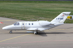 I-FVAB - 2016 build Cessna 525 Citation M2, taxiing for departure on Runway 24 at Friedrichshafen during Aero 2017 (egcc) Tags: 5250916 aero aerofriedrichshafen aerofriedrichshafen2017 bizjet bodensee ce525 cessna cessna525 citation citationjet citationm2 edny fdh friedrichshafen ifvab lightroom m2 textron itl italfly itl601