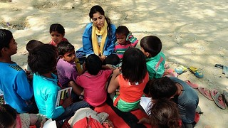 Story telling by Asma , Volunteer at Safdarjung Center,  Blue Pen India NGO.
