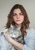 (Kat.Aitch) Tags: cat portrait grey pet cutie green eyes girl self selfportrait