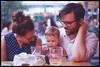 Sarah Oscar and Marc (SaticonDreams) Tags: ektachrome e100vs expired good dogs darebin welcome thornbury nikon f5 50 18 ls50 coolscan v slide film 35mm reversal transparency parents family kid cafe dinner dining beer kodak