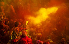 Holi 2018 (Harshal Orawala) Tags: harshalorawala 121clicks holi2018 nandgaon barsana india yellow red colours colors