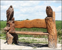 HBM - Happy Bench Monday! (Daryll90ca) Tags: bench hbm happybenchmonday benchmonday woodcarvings woodencarving woodsculpture wood wooden mitchellsbay mitchellsbaytrail mitchellsbaylakeshoretrail trail