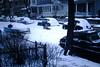 Found Photo - Kids on Sled on Street (Mark 2400) Tags: found photo kids children sled street snowstorm