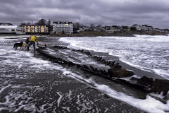 Perspective/scale (Jeananne Martin) Tags: shipwreck york maine beach ocean atlantic storm uncovered unearthed old antique bones wood short sands weather crazy windy waves sea foam shore hull water blustery