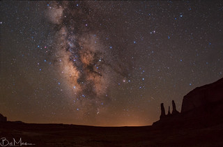 Milkyway above Three Sisters