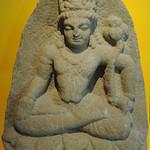 Bodhisattva Avalokiteshvara, abhaya mudra, on a lotus throne, or Manjushri with lotus, Pakistan, Swat Valley, c.800, white micaceous schist, Chicago Art Institute, Chicago, Illinois, USA thumbnail