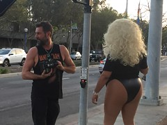 Tranny Pannies, Nix on the nanny . . . (tornadodunes) Tags: photographer transvestite drag queen hamburger marys burger cheeseburger happy ads photo shoot santa monica blvd