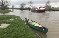 (Sam Tait) Tags: canadian open river soar ratcliffe lock dutch style barge wide beam boat hello world