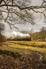 KWVR 2018_03_11_153 (Phil_the_photter) Tags: steam steamengine steamloco steamrailway steamgala kwvr keighley 70013 olivercromwell black5 blackfive 44871 oakworth coaltank 1054 7f 53808 oxenhope