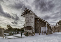 Old Barn {Explored 254} (Jeananne Martin) Tags: barn silo bucolic idyllic farm newhampshire nh wolfeboro explore explored country clouds drama dramatic
