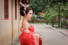 IMG_7266 (A.P.VN) Tags: queen feudal royal power red shoulder vintage
