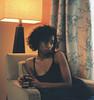 (_vol.1) Tags: tone tones color orange green composition form woman sad argument relationship mug coffee curls black melanin skin 35mm minolta srt 102 film analog kodak portra 400 dmv maryland