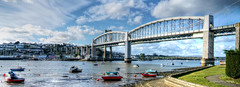 Saltash Passage (PAUL YORKE-DUNNE) Tags: rivertamar saltash saltashpassage brunel bridges railway road sea tidal