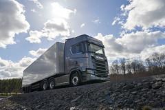 Scania S 520 V8 6x2 Highline with trailer (WPegasus) Tags: grey cr20h v8 truck nature eu 6