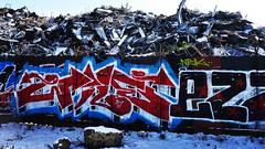 color (Darek Drapala) Tags: color ruin dump rust graffiti winter snow lumix light warsaw warszawa panasonic poland polska panasonicg5 urban industrial