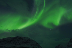 Northern Lights (annemwo) Tags: sky nature northernlights march alta norway mountain night