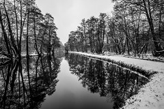 Beast From The East (ed027) Tags: ifttt 500px togetsukyo bridge bow boulevard footbridge kancamagus highway park river shinkyo tree arch yuyuan tan snow cold frost canal arctic reflection still long exposure calm mono monochrome black white beautiful path ice freeze freezing storm