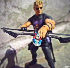 Hawkeye & Ant-Man (THE AMAZING KIKEMAN) Tags: marvel comics select diamond toys antman hawkeye action figures clint barton scott lang toy biz avengers the