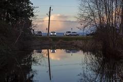Parking (Clayton Perry Photoworks) Tags: vancouver bc canada richmond terranova winter explorebc explorecanada reflections