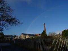 Atmospheric rainbow (Phil Gayton) Tags: sky rainbow industrial building pumping station signal box cabin railway railroad totnes devon uk creamery atmospheric