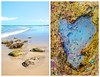 Rock pool heart (jettebaltzer) Tags: anglesea greatoceanroad diptych heart beach