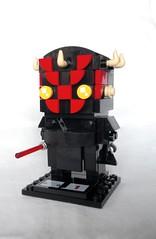 Darth Maul (instructions available) (tomvanhaelen) Tags: lego star wars custom brickheadz moc darth maul sith