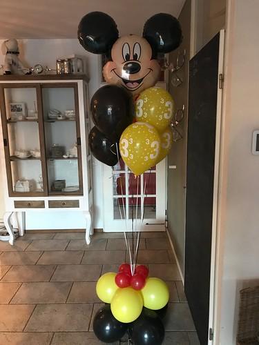Ballondecoratie Gronddecoratie Mickey Mouse