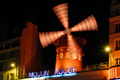 Moulin Rouge (Luca Quadrio) Tags: rouge place historic city moulinrouge moulin icon red attraction love architecture traditional building winter landmark retro buildings vintage metropolitan vacation town light culture famous urban symbol travel paris french design france tourist tourism windmill sign europe european background
