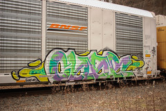Char (NJphotograffer) Tags: graffiti graff trackside track railroad rail art freight train bench benching autorack autoracks racks char