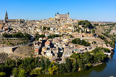 Toledo, Spain (Marian Pollock) Tags: europe spain toledo panorama vista city castle river fromabove view architecture church alcazar cathedral riotagus tajo tajoriver