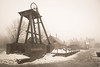 The Good Old Days (Ged Slaughter Photography) Tags: sepia sepiatoned gedslaughter pit pitwheel ironbridge heritage worldheritage bw winter wintery industry industrial landscape bleak blistshill