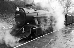 "The Glasgow Highlander 45157 - ""Black 5"" (wontolla1 (Septuagenarian)) Tags: elr bury bolton street station steam loco locomotive lancashire east lancs railway black five 5 theglasgowhighlander stanier white mono monochrome blackandwhite"
