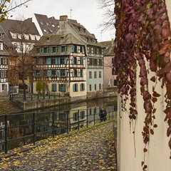 Magic Awaits (trainmann1) Tags: nikon d7200 nikkor 18200mm amateur handheld europe november 2017 fall vacation honeymoon strasbourg france strasbourgfrance french beautiful amazing scenic postcard reflect reflection buildings architecture building water canals canal colorful colors vibrant