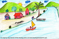 Boating Scene (drawingtutorials101.com) Tags: boating scene boat scenes color pencils boats sketch sketches sketching pencil draw drawing drawings colors how speeddrawing