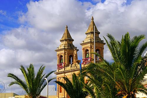 Bell towers of Marsaxlokk Parish Church, Malta