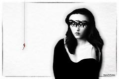 Strings (WayneToTheMax) Tags: black white red string nikon d750 allure temptation choice fear love relationship sin vulnerable beauty dark risk danger abandon desire face eyes