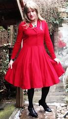 Black Butterfly (Amber :-)) Tags: burgundy dress tgirl transvestite crossdressing