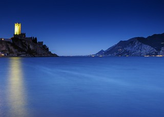 a sunrise at Garda lake (Italy)