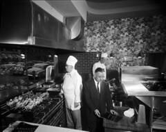 Bonanza Broiler, 1956 (Seattle Municipal Archives) Tags: seattlemunicipalarchives seattle restaurants kitchens chefs cooks grills downtownseattle 1950s