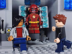 Nice Job on the Suit! (-Metarix-) Tags: lego super hero minifig dc comics comic flash cisco ramon barry allen suit star labs display cw season 4 future futristic speedster