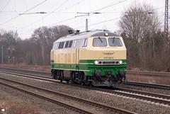 "218 396 ""Brohtalbahn"" als Tfzf - 09.03.2018 - Bassum (D) (Frederik L.) Tags: db bahn zug eisenbahn brohtalbahn lok lokomotive diesel rollbahn bahnhof bassum"